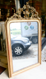 72-17 - Antique Mirror with Elaborate Crest