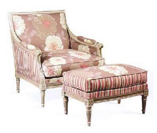 Louis XVI Closed Armchair with carving
