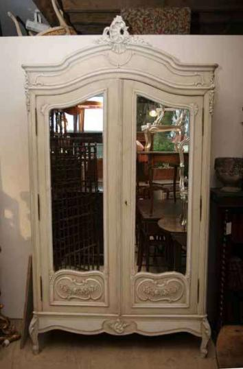 72-29 - Painted French Armoire