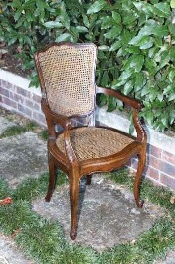 72-69 - French Walnut Fauteuil Chair