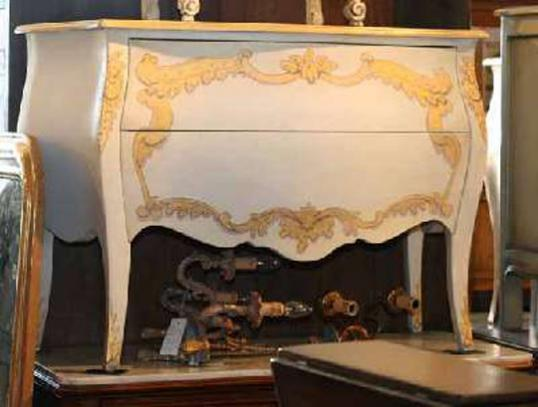 Cream and Gold Commode