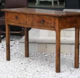 73-50 - Two-drawer Burr Elm Side Table