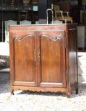 73-73 - Oak Louis XIV Two-door Cupboard