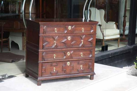 73-76 - A Jacobean Period English Chest of Drawers