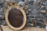 76-01 - French Oval Gilt Mirror