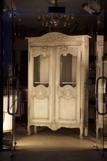 76-40 - Painted French Armoire