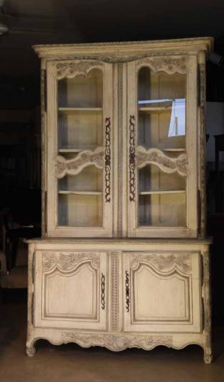 76-47 - Painted Louis XIV Buffet Bookcase