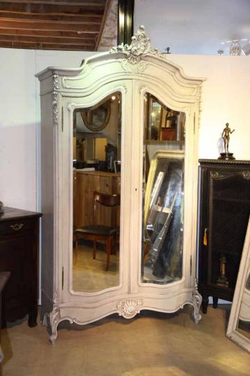 76-80 - French Painted Armoire