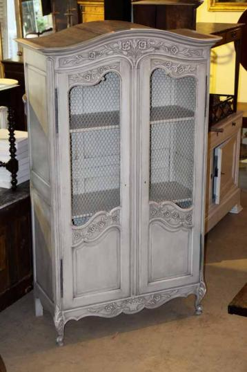 77-33 - Painted Louis XIV Style Armoire