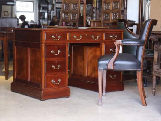 English Red Walnut Desk