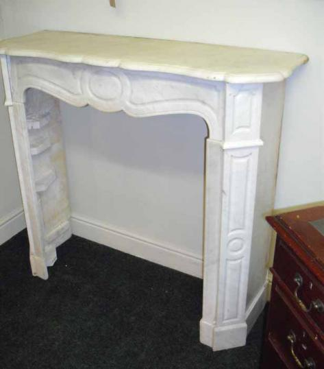 77-61 - Marble Fireplace