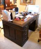 77-85 - Walnut Pedestal Desk