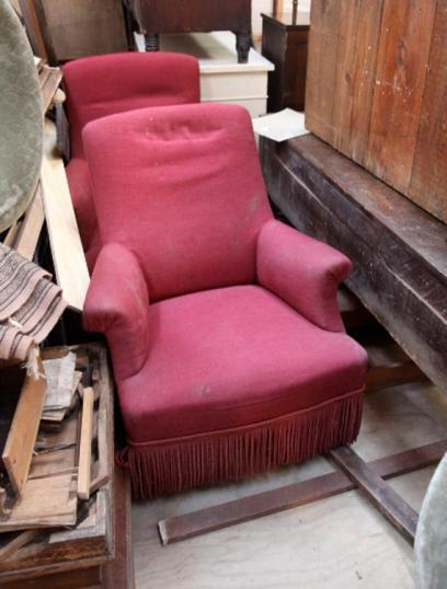 78-41 - Antique Pair of French Armchairs