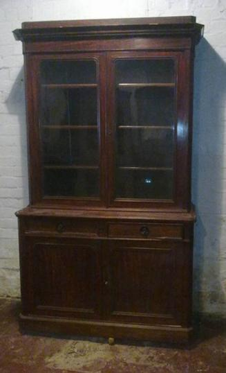 78-46 - English Cupboard and Bookcase