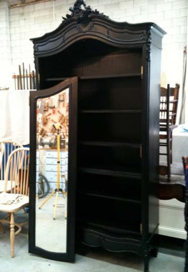 78-51 - Black Painted Armoire