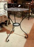 79-90 - Black Wrought Iron Table