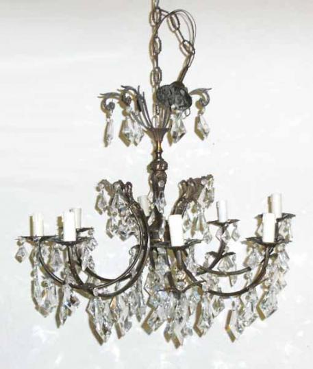 Antique Chandelier with Eight Lights