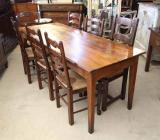 80-19 - French Cherry Dining Table