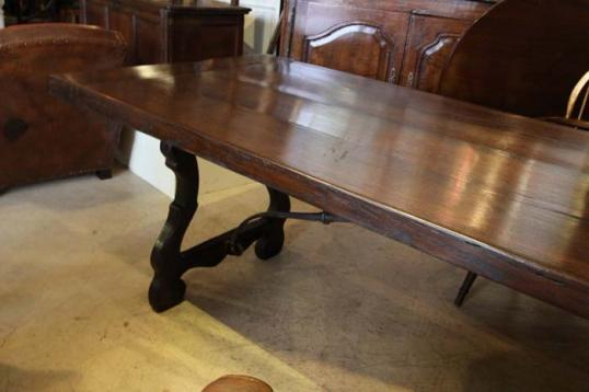 New Dining Table from Old French Oak