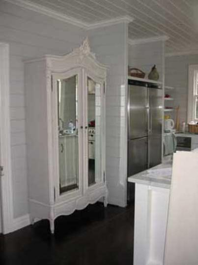58-05 - Painted French Armoire /Pantry
