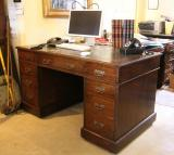 80-84 - Oak Pedestal Desk