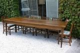 84-07 - A Large French Oak Dining Table