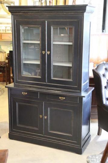 81-51 - Black Cupboard and Bookcase