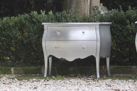 Pair of Silver Commodes