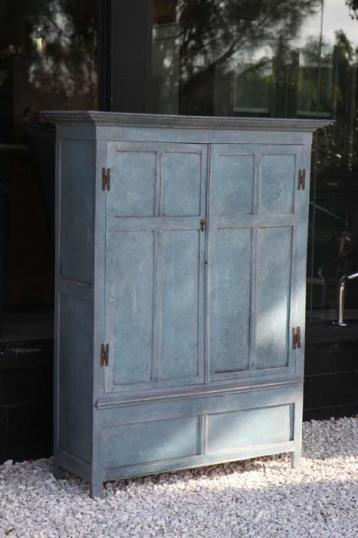 81-78 - French Painted Cupboard