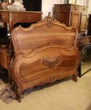 81-99 - French Walnut Antique Bed
