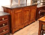 82-15 - Cherry Wood Dresser with Black Marble Top