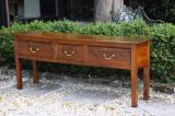 83-90 - French Three Drawer Cherry Side Table