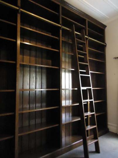 Library Bookcases and Ladder