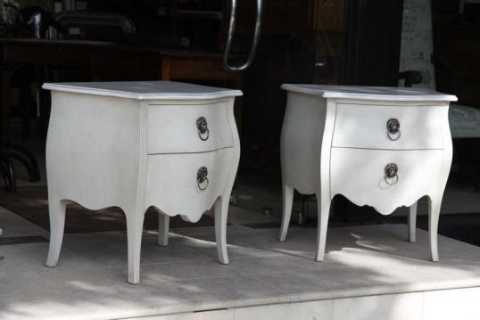 Pair of Bombe Commodes