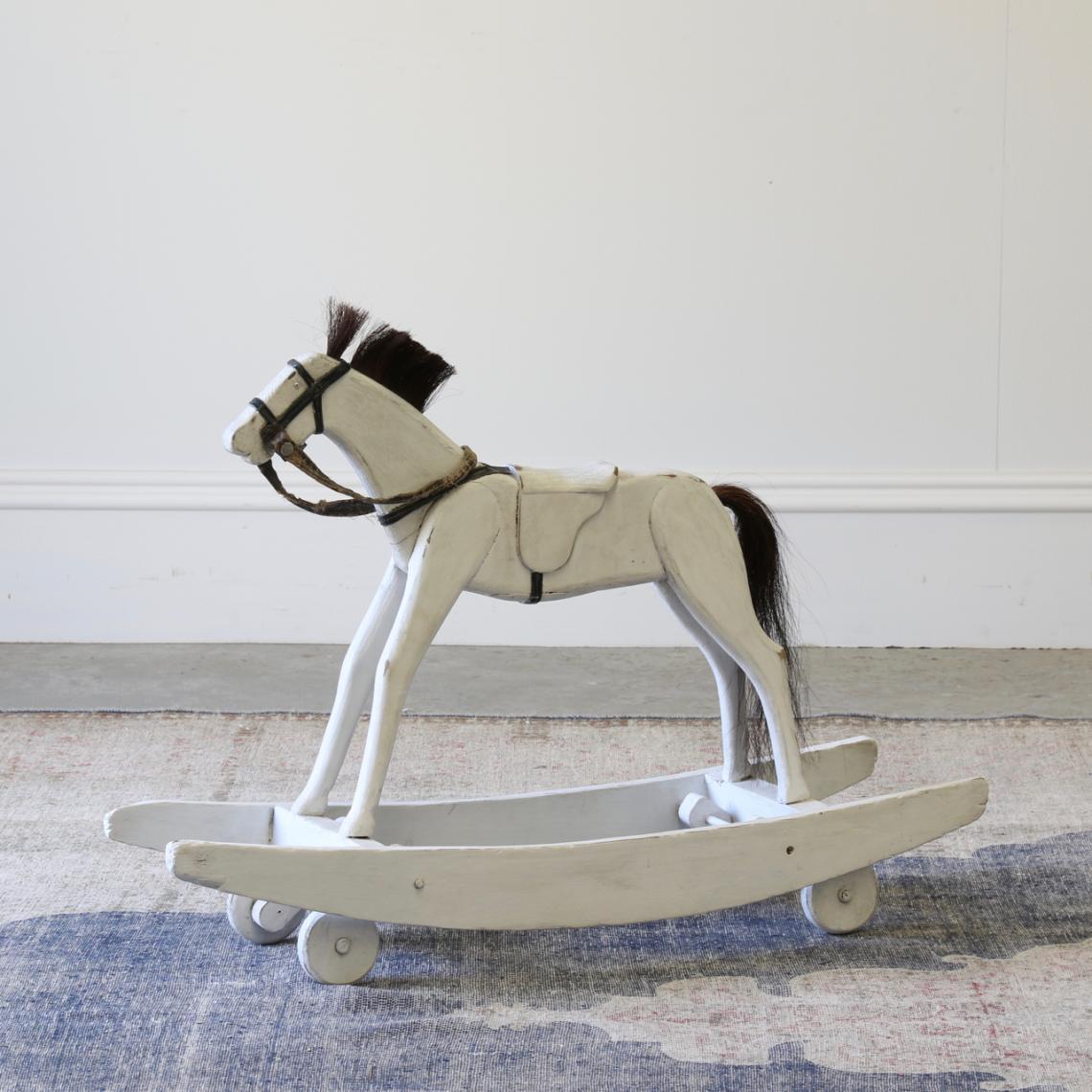 John Stephens Painted Rocking Horse