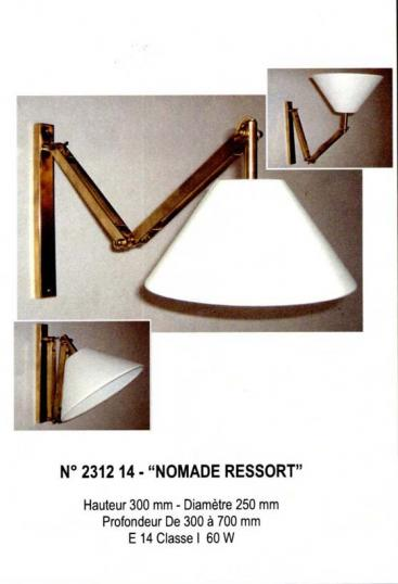 French Nomade Ressort Wall Mounted Light