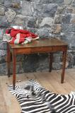 82-92 - One Drawer French Chestnut Side Table