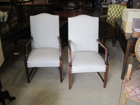 Pair of Antique Walnut Carver Chairs