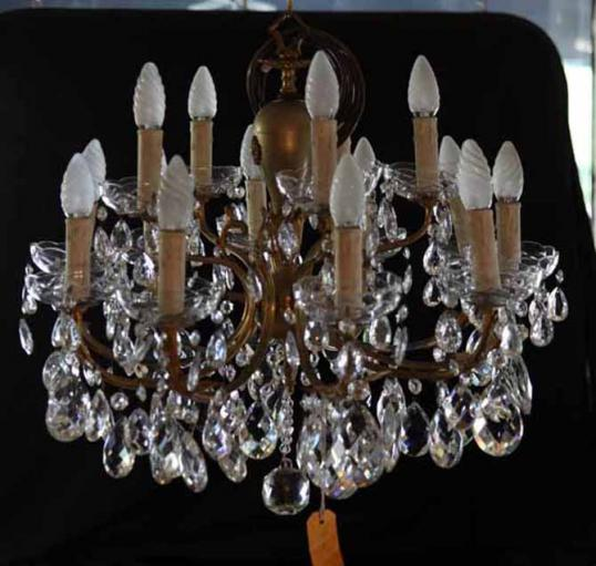 Antique Italian Fifteen Light Chandelier