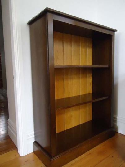 Bookcase with Medium Oak and Natural Backboards