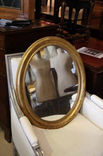 Small Oval Louis Philippe Mirror