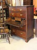 84-62 - English Tall Chest of Drawers with Secretaire