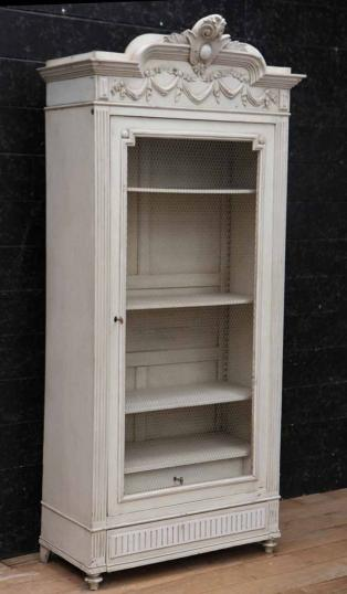 84-63 - One Door Painted French Armoire