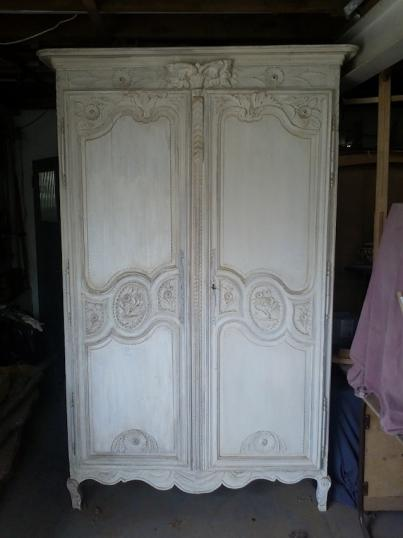 49-00 - Painted French Oak Armoire