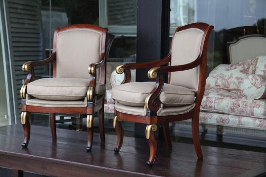 84-76 - Fantastic Pair of French Empire Chairs