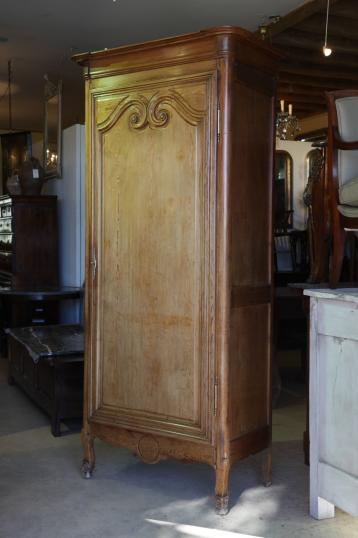 84-77 - French Single Door Armoire or Bonnetiere