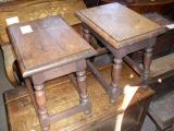 84-81 - Pair of  English Oak Jointed Stools