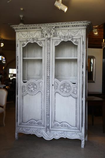84-91 - French Louis XIV Painted Armoire