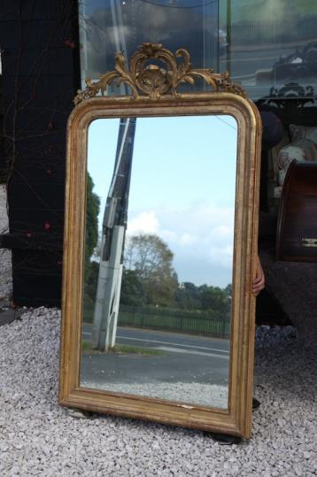 Antique Crested Mirror