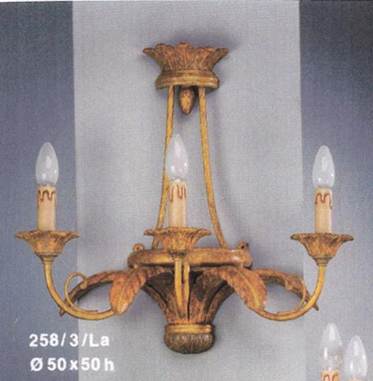 Laurel Leaf 3-Light Wall Sconce